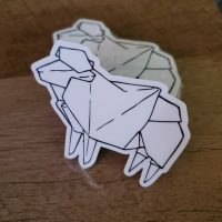 Origami Sheep Sticker
